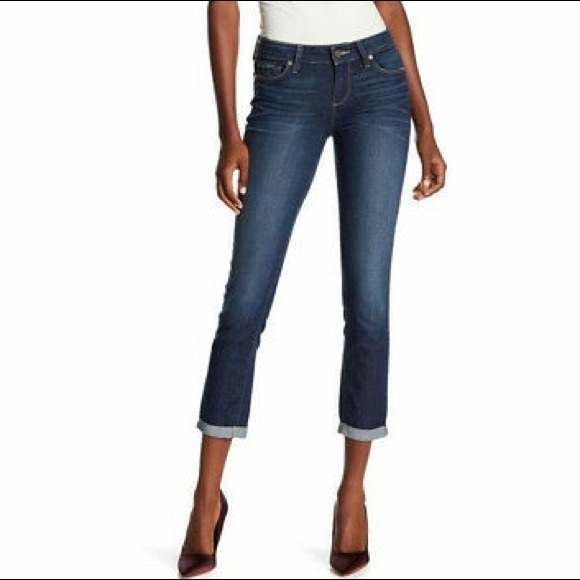 PAIGE Kylie Crop Roll Up Jeans In Tonal Duncan Size 31